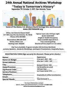 San Antonio 2021 flyer - English